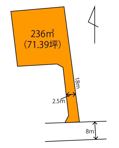 高崎市中居町 売地 区画図